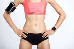 Close-up of beautiful sporty female body Royalty Free Stock Photo