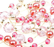 Close-up beautiful string of beads to background Royalty Free Stock Images
