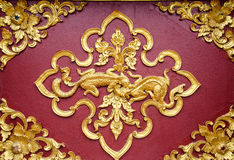 Close Up Beautiful Stucco Thai. Royalty Free Stock Photography