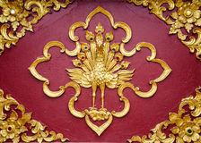Close Up Beautiful Stucco Thai Traditional Art. Stock Photography