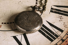 Close-up of beautiful vintage pocket watch Royalty Free Stock Photography