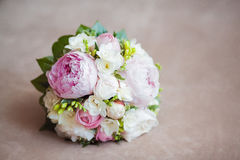Close up of beautiful wedding bouquet Royalty Free Stock Photography