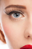Woman eye with long eyelashes Royalty Free Stock Image