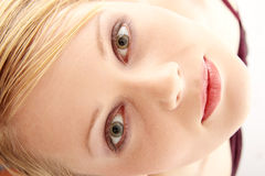 Close-up of beautiful woman face. Stock Images