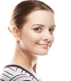 Close-up of beautiful woman face. Royalty Free Stock Image
