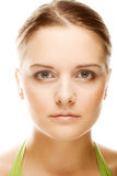 Close-up of beautiful woman face. Stock Photo