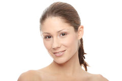 Close-up of beautiful woman face Stock Image