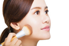 Close up of beautiful woman face and make-up concept Stock Photography