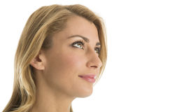 Close-Up Of Beautiful Woman Looking Away Royalty Free Stock Images