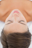 Close-up of a beautiful woman lying on massage table Royalty Free Stock Image
