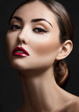 Close-up of beautiful woman with make-up Stock Images