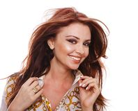 Close-up of Beautiful woman smiling Royalty Free Stock Photo
