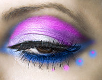 Close-up of beautiful womanish eye Stock Photos