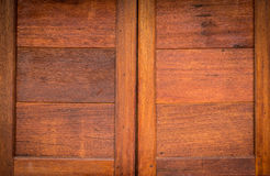 Close up beautiful wood wall windows texture background Stock Photography