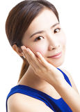 Close up beautiful young asian Woman face Royalty Free Stock Image