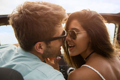 Close up of a beautiful young couple kissing Stock Photography
