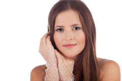 Close-up of a beautiful young woman Royalty Free Stock Photography