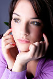 Close up beautiful  young woman Stock Images