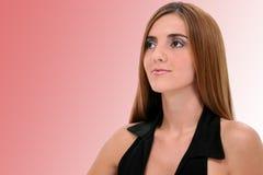 Close Up of Beautiful Young Woman Royalty Free Stock Photos