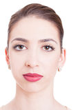 Close-up of beautiful young woman looking at camera Royalty Free Stock Image