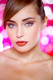 Close up Beautiful Young Woman Portrait Royalty Free Stock Images