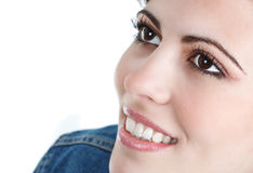 Close-up of beautiful young woman's face Stock Image