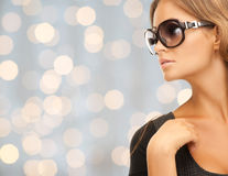 Close up of beautiful young woman in shades Royalty Free Stock Images