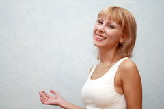 Close-up of a beautiful young woman smiling Royalty Free Stock Photos