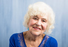Close up of beautifuly aged woman Stock Images