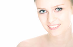 Close-up beauty girl portrait Royalty Free Stock Image