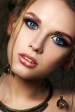 Close-up beauty portrait of funny girl Royalty Free Stock Photography