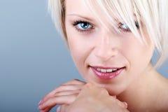 Close-up beauty portrait stock photos