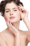 Close up of beauty woman with perfect skin Stock Image