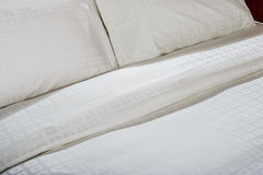 Close up of bed linen set. Stock Photos