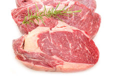 Close up beef entrecote with rosemary Stock Photos