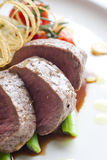 Close up Beef medallions. With detail Stock Image