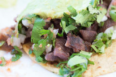 Close up of beef and pork street tacos Royalty Free Stock Image