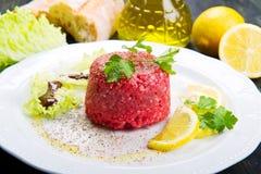 Close up of beef tartar Stock Image