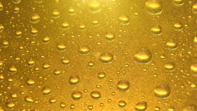 Close up of beer bubbles and water drops texture