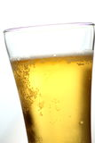Close up of beer glass with bubbles Stock Photos