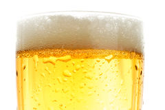 Close up of beer pint stock image