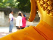 Close-up behind Golden Buddha statue in Bangkok Thailand Royalty Free Stock Photos