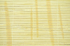 Close up beige bamboo curtain Stock Images