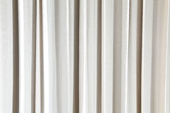 Close-up of beige curtain background Royalty Free Stock Photos