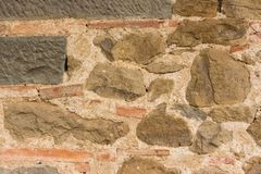 Beige stonewall texture 5. Close up of beige stone wall texture background surface Royalty Free Stock Image