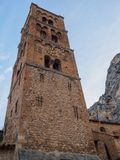Churchtower Moustiers-Sainte-Marie royalty free stock images