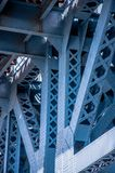 Close up of the Benjamin Franklin Bridge Royalty Free Stock Photos