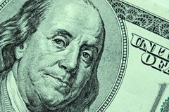Close-up on Benjamin Franklin. Close-up portrait of Benjamin Franklin . Concept and Ideas Royalty Free Stock Photo
