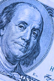 Close-up on Benjamin Franklin. Close-up portrait of Benjamin Franklin . Concept and Ideas Royalty Free Stock Image