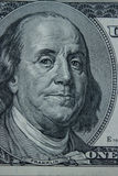 Close-up on Benjamin Franklin. Close-up portrait of Benjamin Franklin . Concept and Ideas Royalty Free Stock Images